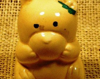Vintage Tiny Teddy Toothpick Holder