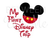 My First Disney Trip Mickey Mouse Disney Iron On Decal Vinyl for Shirt