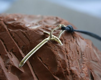 Mountaineering Ice Axe and Fully Functional Carabiner Necklace made in Sterling Silver - Climbing Piolet Pendant