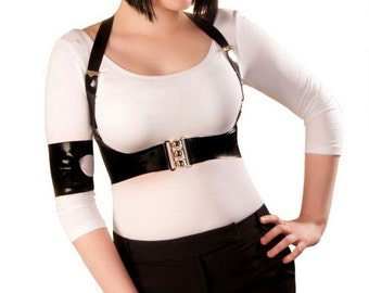 Latex Revol Military Harness Top
