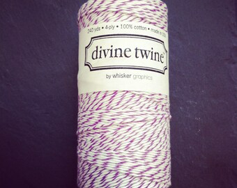 Bakers twine plum purple