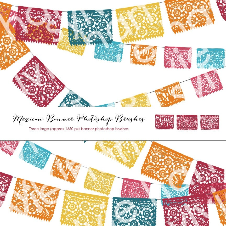 Three Large Mexican Fiesta Party Banner Photoshop By