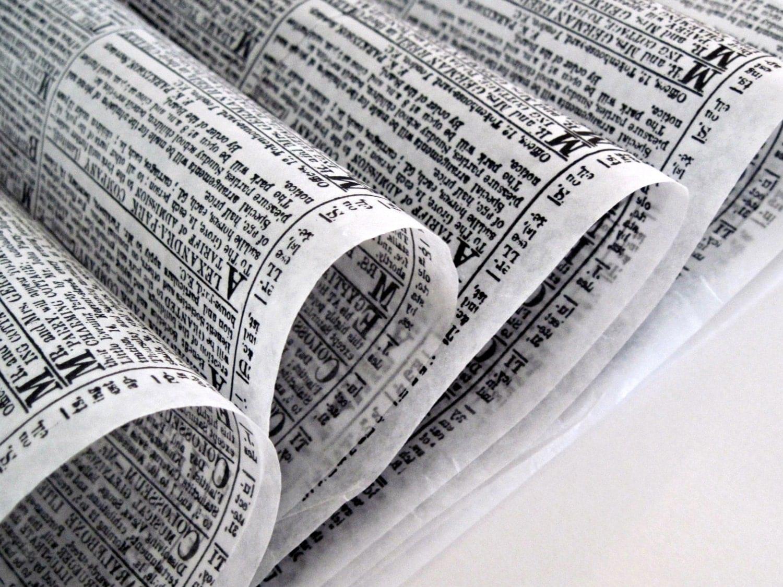 Checkered Wax Paper Wax Paper-50 Sheets Newsprint
