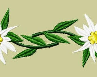 Embroidery pattern - Pair of Edelweiss