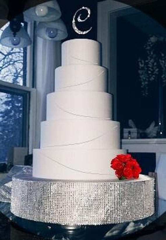 wedding cake riser items similar to bling rhinestone cake stand plateau riser 8732