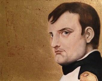 Napoleon Bonaparte on Gold Leaf