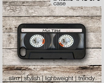 Mix Tape 1 Retro Cassette Tape - iPhone 6, 6+, 5 5S, 5C, 4 4S, Samsung Galaxy S3, S4