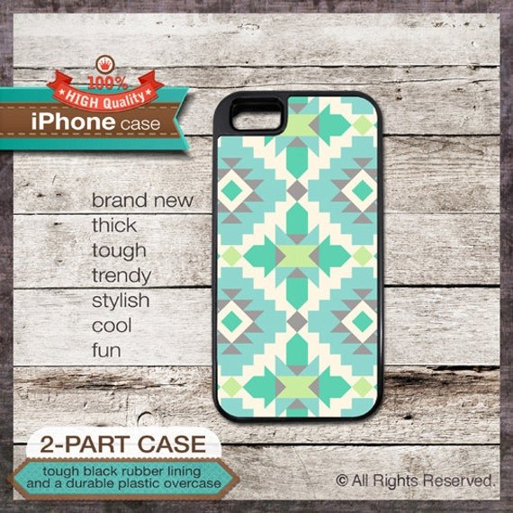 iPhone 6, 6+, 5 5S, 5C, 4 4S, Samsung Galaxy S3, S4 - Navajo Tribal Ethnic Pattern - Design Cover 53