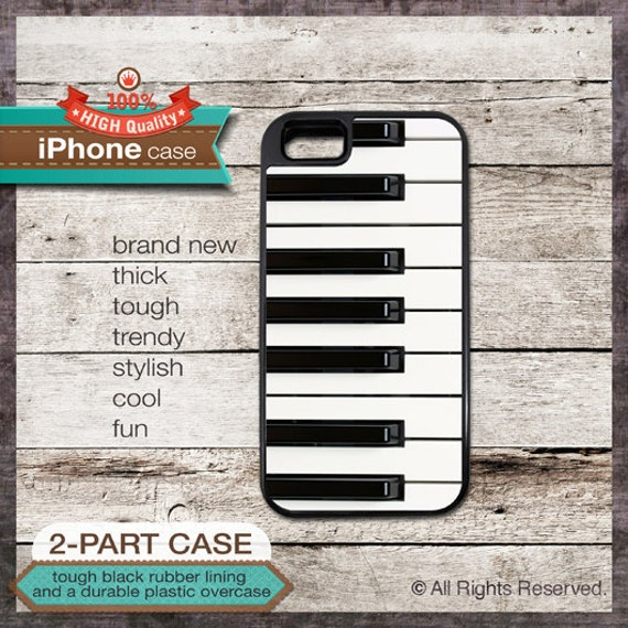 Keyboard piano keys vintage design - iPhone 6, 5 5S, 5C, 4 4S, Samsung Galaxy S3, S4, S5 - Cover 125