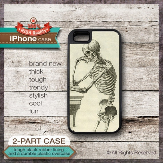 iPhone 6, 6+, 5 5S, 5C, 4 4S, Samsung Galaxy S3, S4 Thinking Skeleton 1