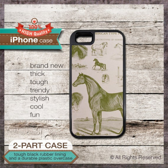 Vintage Horse Illustration - iPhone 6, 6+, 5 5S, 5C, 4 4S, Samsung Galaxy S3, S4
