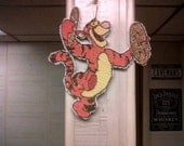 TIGGER ornament in plastic canvas