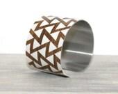 HARTLEY Cuff Bracelet - Metal Cuff - Aluminum Cuff Bracelet - Large Bold Bracelet - Wide Cuff Jewelry - Triangle Bracelet