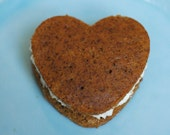 Gingerbread Whoopie Pie (6) Edible Gift - Edible Favor - Edible Wedding Favor - Shower Favor - Party Favor - Fall Dessert - Holiday Dessert