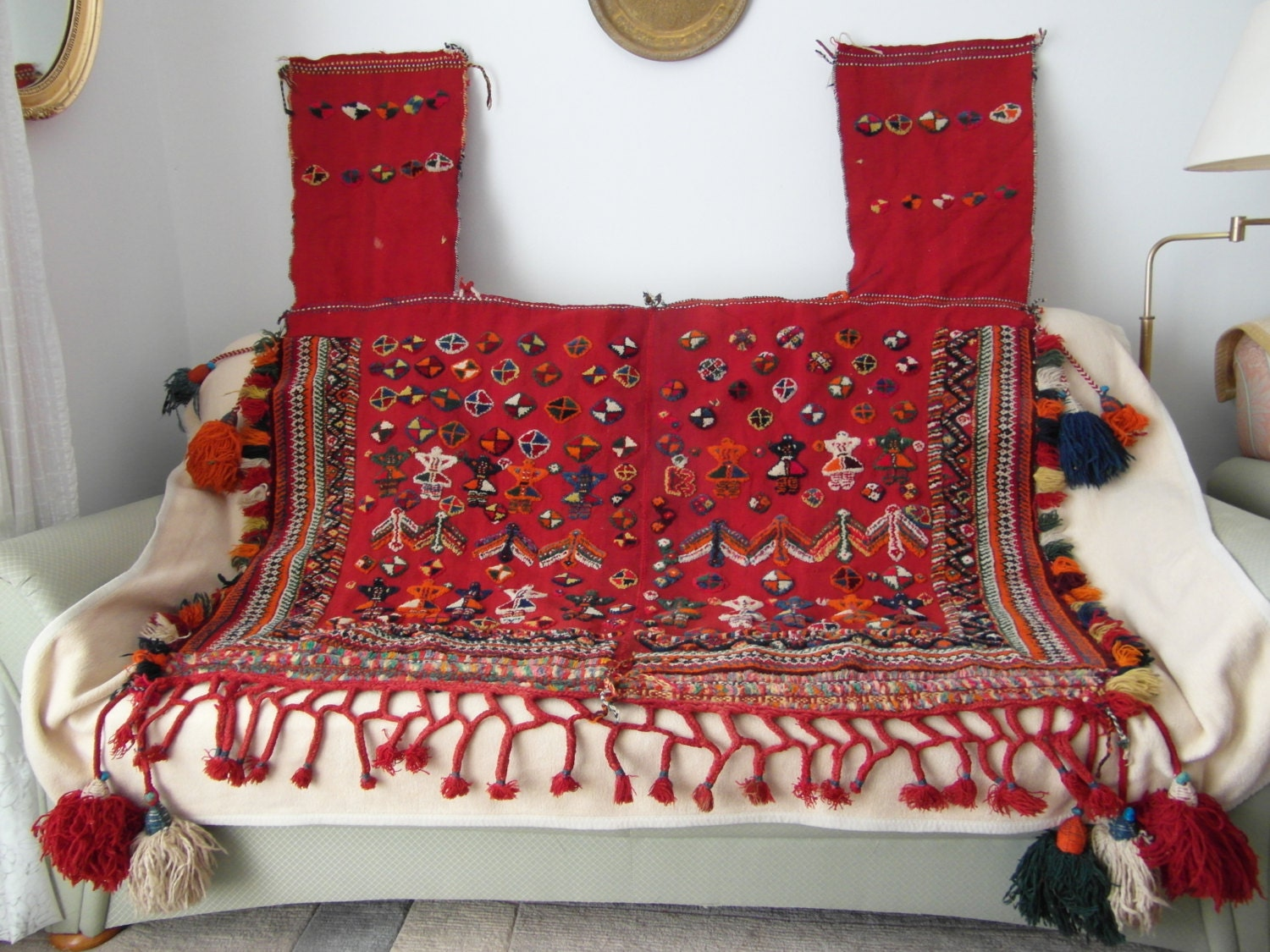 wall hanging large horse blanket camel quilt handwoven persian. Black Bedroom Furniture Sets. Home Design Ideas