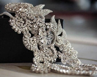 Vintage inspired bridal headpiece - GRA (Made to Order)