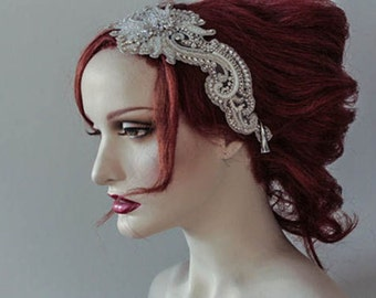 Vintage inspired large headpiece - Venice Headpiece (Made to Order)