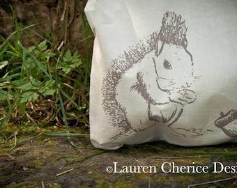 Screen Printed Mr Squirrel Tote Bag