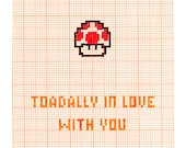 Toadally In Love With You - Nintendo - Love Romance Card