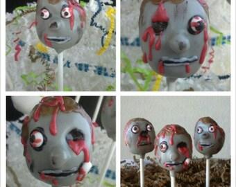 Zombie Cake Pops - The Walking Dead Cake Pops - Zombies - Zombie Party - Zombie