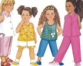 Vintage Butterick 6485 Pattern Childrens Top Shorts Pants