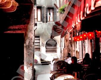 11 X 14 Italian Bistro in Venice Italy