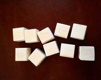 10 Wood Blocks, Alphabet Blocks, Great for Baby Showers
