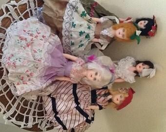 Mid Century Hard Plastic Sleepy Eye  Dolls- Collection of (5)