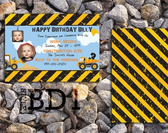 Kid Construction Birthday Invite (BD1)