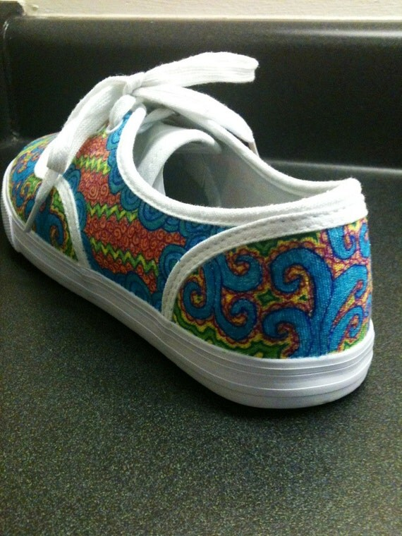 hand drawn sharpie shoes custom shoes doodle by