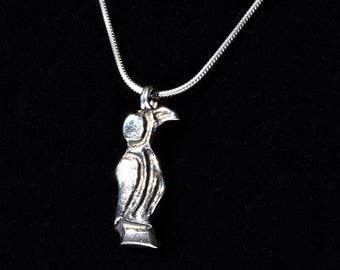 Sterling Silver Merovingian Bird Pendant