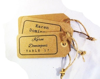 Rustic Wedding Seating Tags