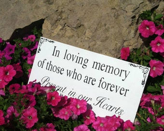 In Loving Memory Signs Wedding Signs Personalized Wedding Decor Custom Wedding Signs and Decorations Photo Prop
