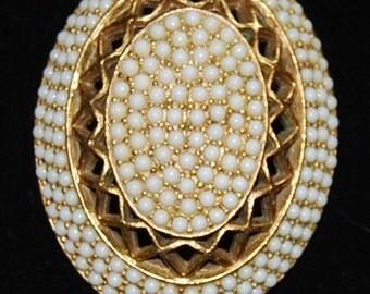 signed har oval brooch