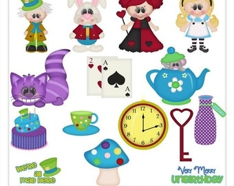 DIGITAL SCRAPBOOKING CLIPART - Wonderland