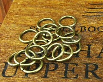 DIY  jewelry 300pcs  of antiqued brass jumpring 4x0.6mm