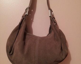JONES NEW YORK Taupe Suede Handbag