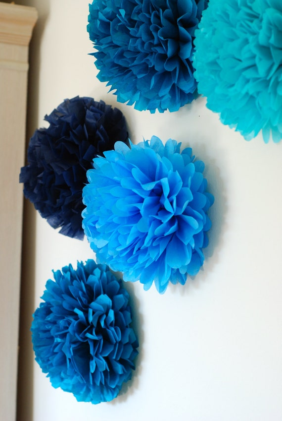 Wall Decor Tissue Paper : Items similar to mini tissue paper pom wall decoration