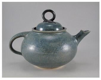 Ceramic Tea Pot with Deep Agate Glaze