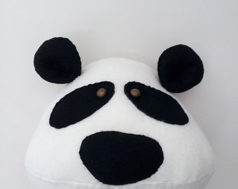 PORTHOS PANDA - Faux Taxidermy Fabric Wall Mounted Animal Head
