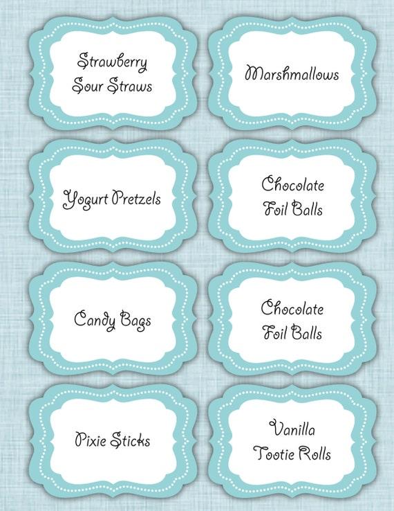 Candy bar template