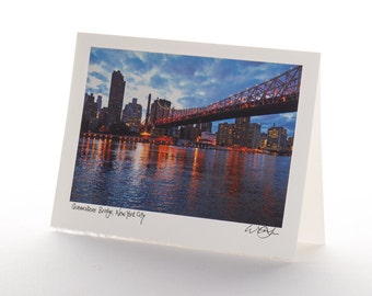 Signed Photo Card - Queensboro Bridge, NYC