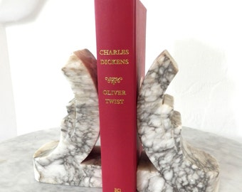 Set of Vintage Italian Marble Bookends
