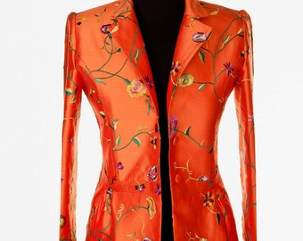 Silk Lotus Jacket in Atomic Coral