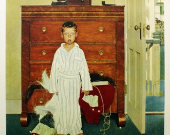 """Norman Rockwell """"The Discovery"""" - Limited Collotype - Retail 300.00 - Buy/Sell/Trade"""
