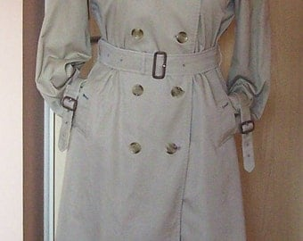 "Womens Beige Burberry Trench Coat 16UK-14US, Length 46""/117cm"