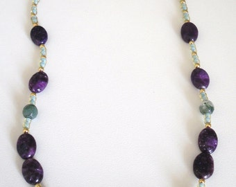 Lepodilite beaded necklace