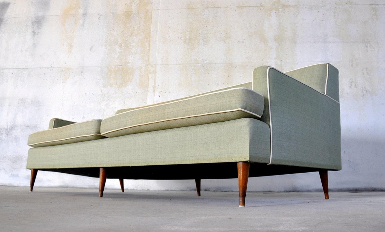 On Hold Mid Century Danish Modern Tufted Sofa Couch Original