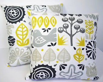 Scandinavian Scion woodland Retro Cushion cover- Sunflower Yellow