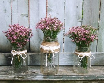 Rustic Wedding Decor / Mason Jar Wedding Centerpiece / Wedding Candle Holder / Wedding Lighting / Skeleton Key wedding Decoration /Jute